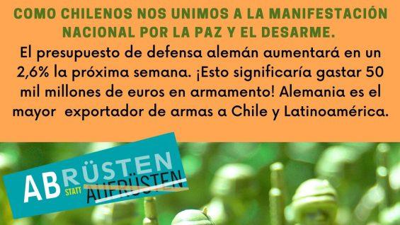 Chilenos y alemanes juntos por la paz
