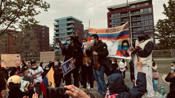Solidarität aus Deutschland mit dem kolumbianischen Volk im Kampf